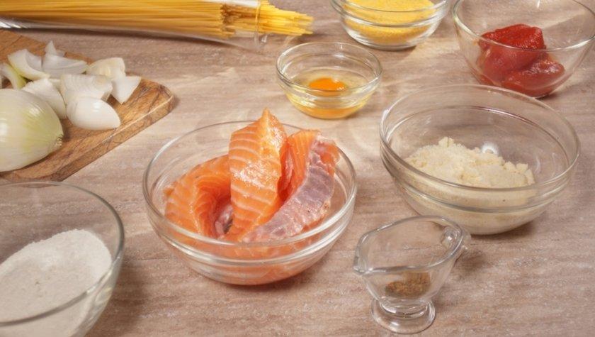Паста с рыбными шариками и сыром
